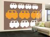 Brown Cars Wall Mural – Large by  Avalisa
