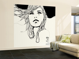 When The Sky Wall Mural – Large by Manuel Rebollo