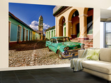 Old Worn 1958 Classic Chevy, Trinidad, Cuba Wall Mural – Large by Bill Bachmann