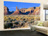 Pinnacles and Buttes in Valley of the Gods, Monument Valley, Utah, USA Wall Mural – Large by Bernard Friel