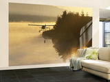 Float Plane on Beluga Lake at Dawn, Homer, Alaska, USA Wall Mural – Large by Adam Jones