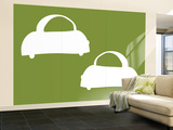 Green Cabs Wall Mural – Large by  Avalisa