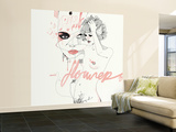 Pink Flower Wall Mural – Large by Manuel Rebollo