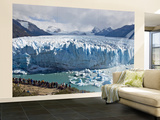 Visitors Viewing Glacier Perito Moreno from Catwalk Wall Mural – Large by Douglas Steakley