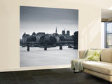 Pont Des Arts, Notre Dame Cathedral and River Seine, Paris, France Wall Mural – Large by Jon Arnold