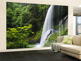 Middle North Falls, Silver Falls State Park, Oregon, USA Wall Mural – Large by Adam Jones