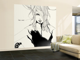 Lady in Black Wall Mural – Large by Manuel Rebollo