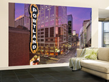 Portland Sign at the Arlene Schnitzer Concert Hall on Broadway, Portland, Oregon, USA Wall Mural – Large by Janis Miglavs