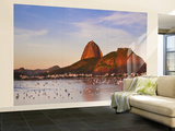 Brazil, Rio De Janeiro, Botafogo, View of Sugar Loaf Wall Mural – Large by Jane Sweeney