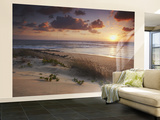 Sunrise on Tofo Beach, Tofo, Inhambane, Mozambique Wall Mural – Large by Ian Trower