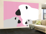 Pink Sheep Wall Mural – Large by  Avalisa