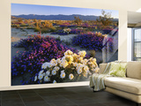 Flowers Growing on Desert, Anza Borrego Desert State Park, California, USA Wall Mural – Large by Adam Jones