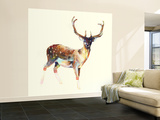 Deer Wearing Gym Socks Wall Mural  Large by Charmaine Olivia