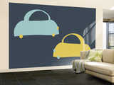 Blue Cabs Wall Mural – Large by  Avalisa
