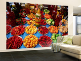 Peppers for Sale at a Local Market, Ipanema Wall Mural – Large por Judy Bellah