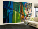 Coloured Glass Panels on Palais Des Congres Wall Mural – Large by Olivier Cirendini
