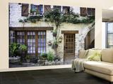House Facade with Flowers in Lot Valley Reproduction murale géante par Barbara Van Zanten