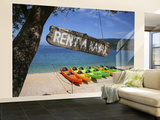 Kayaks for Rent on Beach at Point Kovacine West of Cres Town Wall Mural – Large by Ruth Eastham & Max Paoli