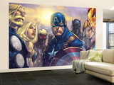 Ultimates 3 No.5 Cover: Captain America, Hawkeye, Black Panther, Iron Man, Wasp, Thor and Sif Wall Mural – Large by Joe Madureira
