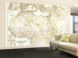 1954 Northern Africa Map Wall Mural – Large