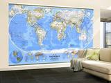1988 World Map Wall Mural – Large