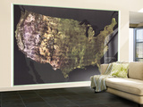 1976 Portrait USA Map Wall Mural – Large