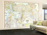 1967 Lands of the Bible Today Map Wall Mural – Large by  National Geographic Maps