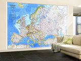 1983 Europe Map Wall Mural – Large by  National Geographic Maps