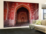 Interior of Red Sandstone Mosque in Grounds of Taj Mahal Wall Mural – Large by Kimberley Coole