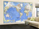 1965 World Map Wall Mural – Large by  National Geographic Maps