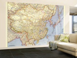 1945 China Map Wall Mural – Large by  National Geographic Maps