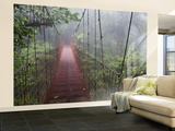 Cost Rica Monteverde Eco Tourism Canopy Walkway in Cloudfores Wall Mural – Large by Christer Fredriksson