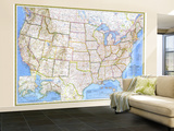 1976 United States Map Wall Mural – Large by  National Geographic Maps