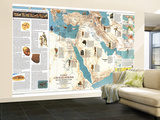 1978 Early Civilizations in the Middle East Map Wall Mural – Large