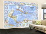 1970 West Indies and Central America Map Wall Mural – Large