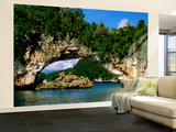 Arch Rock, Natural Archway, Rock Islands, Koror, Palau Wall Mural – Large by John Elk III