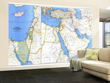 1978 Middle East Map Wall Mural – Large by  National Geographic Maps