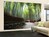 Bamboo Forest Walkway, Arashiyama District Wall Mural – Large by Rachel Lewis