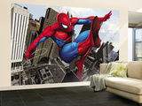 Spider-Man Swinging In the City Wall Mural – Large