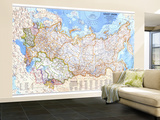 1976 Soviet Union Map Wall Mural – Large by  National Geographic Maps