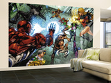 All New Savage She-Hulk No.4 Group: Spider-Man, Lyra, She-Hulk, Ms. Marvel and Wolverine Wall Mural – Large by Peter Vale