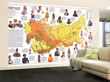 1976 Peoples of the Soviet Union Map Wall Mural – Large