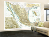 1916 Mexico Map Wall Mural – Large