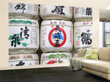 Ornamental Sake Barrels, Meiji Shrine Wall Mural – Large by John Borthwick