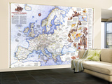 1983 History of Europe, the Major Turning Points Map Wall Mural – Large by  National Geographic Maps