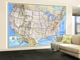 1993 United States Map Wall Mural – Large by  National Geographic Maps