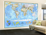 1994 World Political Map Wall Mural – Large by  National Geographic Maps