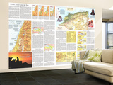 1972 Peoples of the Middle East Theme Wall Mural – Large