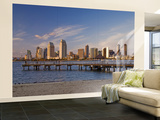 Downtown at Sunset, Seen from Coronado Peninsula Wall Mural – Large by Witold Skrypczak