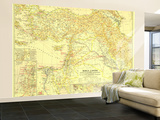 1938 Bible Lands, and the Cradle of Western Civilization Map Wall Mural – Large
